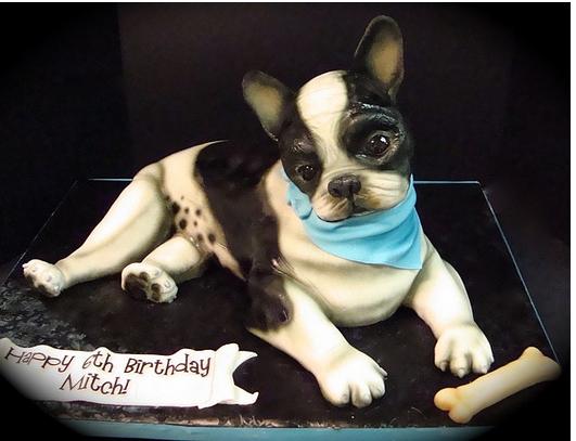 Dog Shaped Birthday Cakes French Bulldog CakePNG