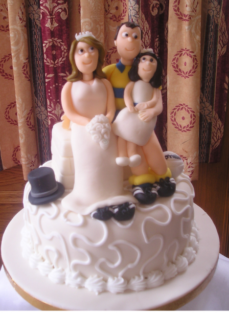 Family Wedding Football Cake TopperPNG