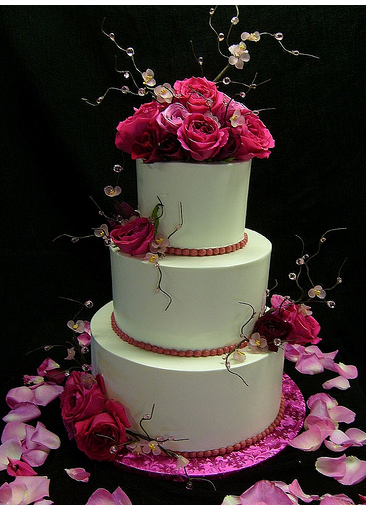 Fresh Flowers Wedding Cake Toppers Photos PNG