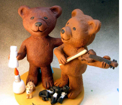 Gay Bear's Wedding Cake Topper with their cats.PNG