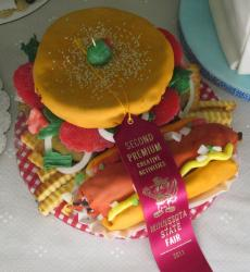 Burger fries and hotdog cake.JPG
