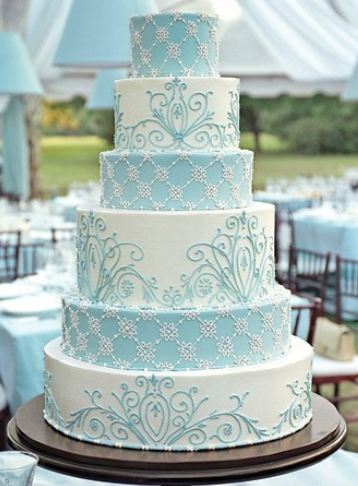 Blue Color Wedding Cakes