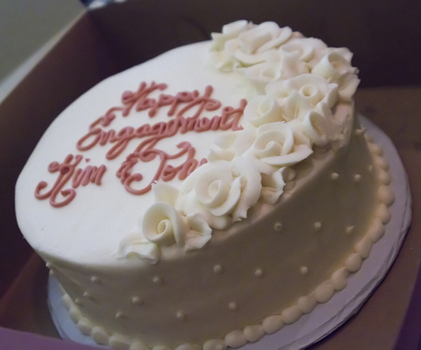 Simple Traditional Engagement Cake Picture Png
