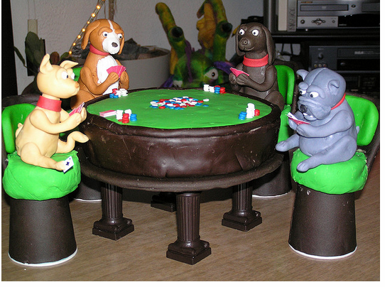 Funny dog birthday cake with dogs playing poker.PNG