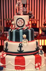 4 tier teddy bear and nautical theme first birthday cake.JPG