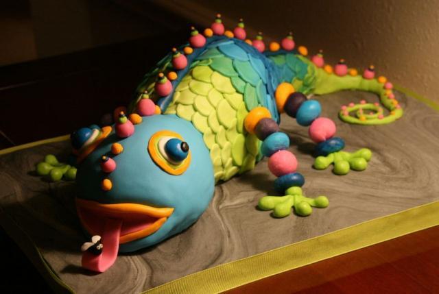 Colorful Iguana Cake Jpg 2 Comments