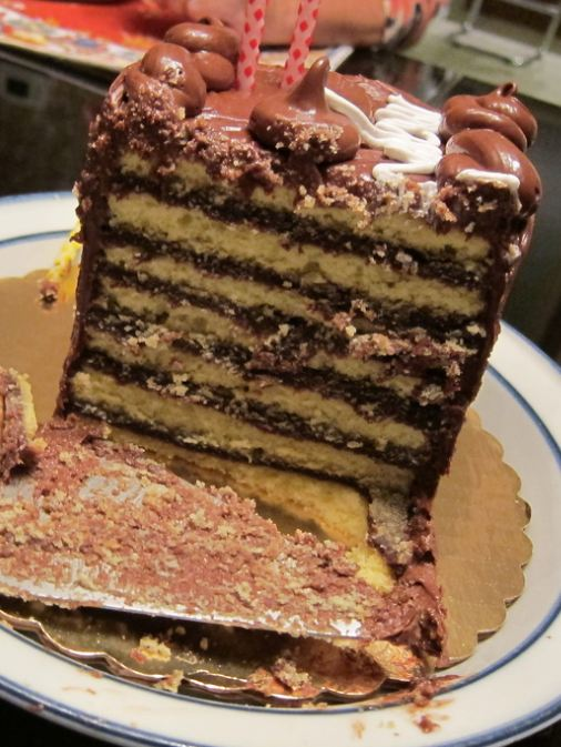 Seven layer chocolate cake sliced.JPG