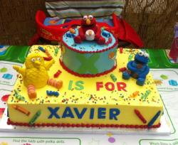 Baby Elmo and Seasame Street birthday cake.JPG