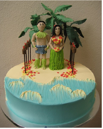 tropical wedding cake toppers