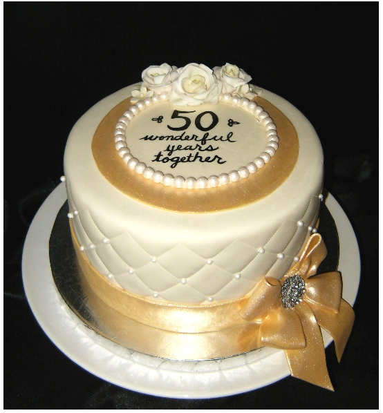 Trendy 50th anniversary cake topper pictures png - Th anniversary cake decorations ...