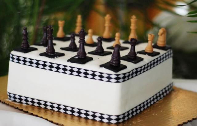 Phenomenal Chess Board Grooms Cake Jpg Funny Birthday Cards Online Overcheapnameinfo