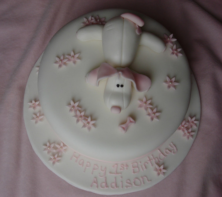 Puppy Dog First Birthday Cake Picture Png