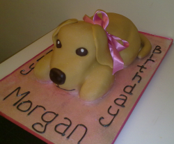 Puppy shaped birthday cake picture.PNG