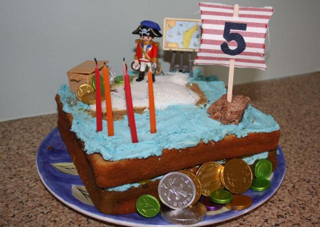 Birthday Cake Ideas For A 5 Year Old Boy : Pirate theme birthday cake for 5 year old.JPG Hi-Res 720p HD