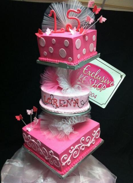 Super 3 Tier Pink Ballerina Theme 15Th Birthday Cake For Girl Jpg Funny Birthday Cards Online Elaedamsfinfo