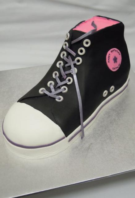 Black And White Shoe Cake Pink Inside Jpg 1 Comment