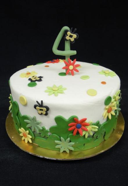 Garden Theme 4th Birthday Cake Jpg 1 Comment