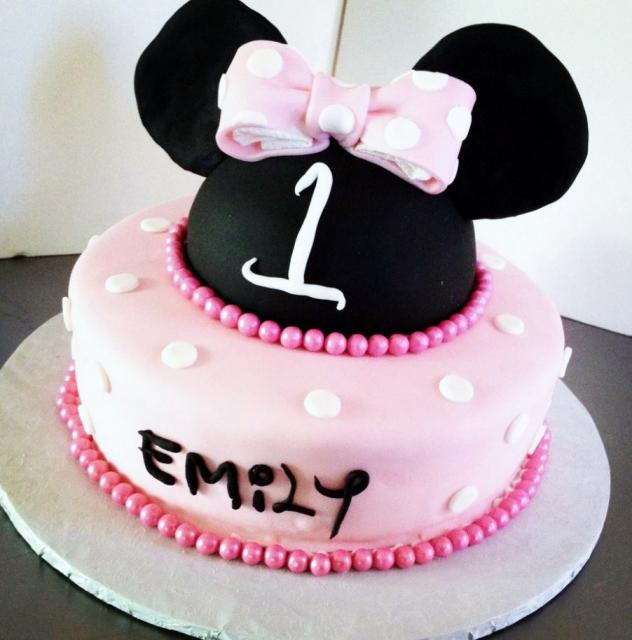 Minni Mouse Pink First Birthday Cake For Girl.JPG Hi-Res