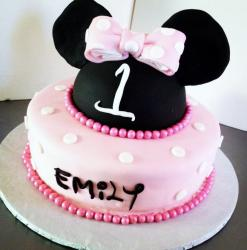 Minni Mouse Pink First Birthday Cake for Girl.JPG