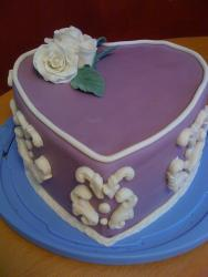 Purple Heart Cake 087