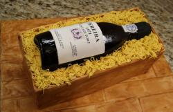 Wine bottle in box cake.JPG