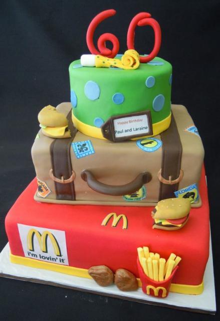 Mcdonalds Birthday Party Cake