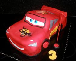 Lightning McQueen Cars cake for 3 year old.JPG