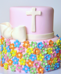 Modern baptism cakes with colorful floral cake decor ideas.PNG