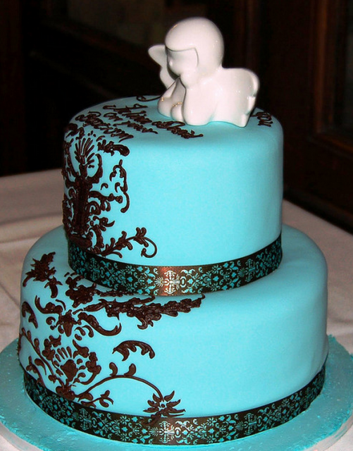 teal blue and brown wedding cakes turquoise brown and teal baptism cake png 1 comment 20775