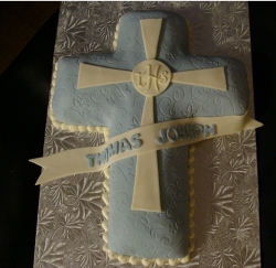 Cross shaped baptism cakes for boys.PNG