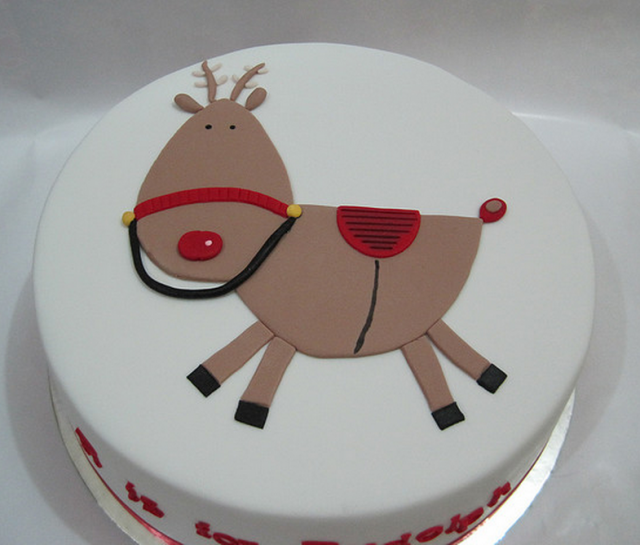 Cute Christmas Cake Decoration Picturepng