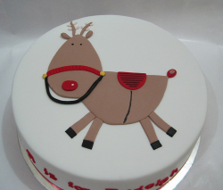 Cute Christmas cake decoration picture.PNG