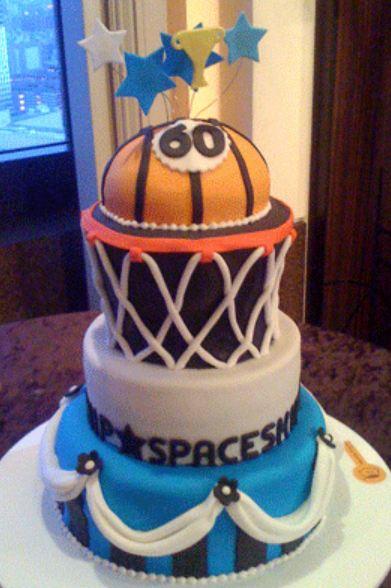 Basketball Theme 60th Birthday Cake Jpg