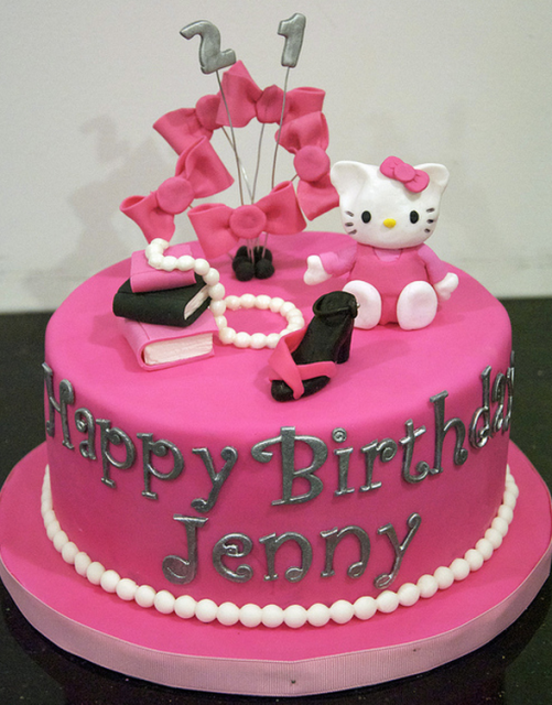 Photo of shiny pink Hello Kitty Cakes for adults