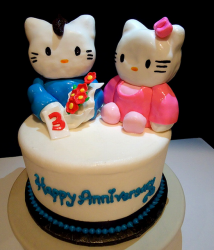 Hello Kitty anniversary cakes photos.PNG