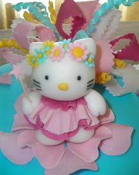 Hello Kitty cake topper with floral head band.PNG