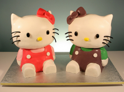Hello Kitty Twins cakes photos.PNG