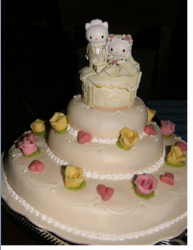 Hello Kitty wedding cakes pictures.PNG