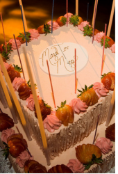 Classic square barnitzvah cake decor ideas with fresh strawberries.PNG