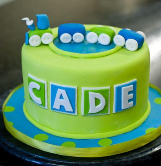 Surprising Green Round Toy Train Theme Birthday Cake For Boy Jpg Birthday Cards Printable Benkemecafe Filternl