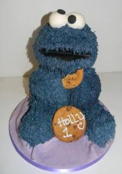 Cookie Monster first birthday cake for girl.JPG