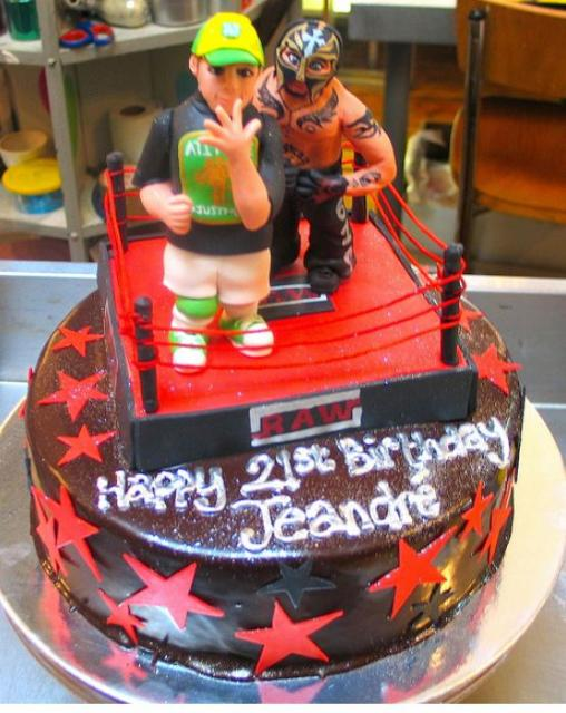 Wrestling Wwe Theme Chocolate Birthday Cake With Ring And