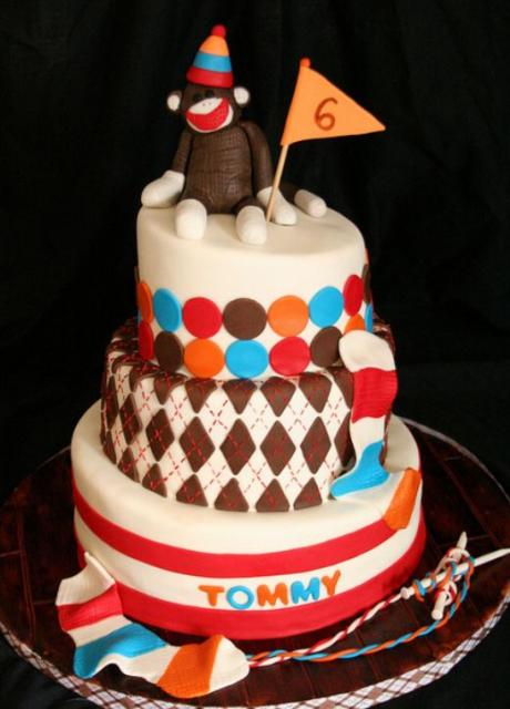 3 Tier 6th Birthday Cake With Monkey On Top Jpg 1 Comment