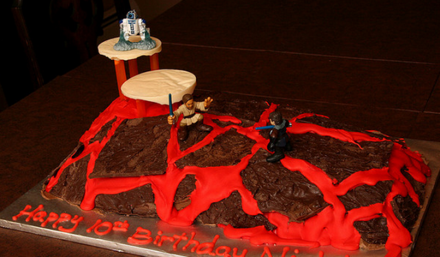 Image of star wars birthday cake