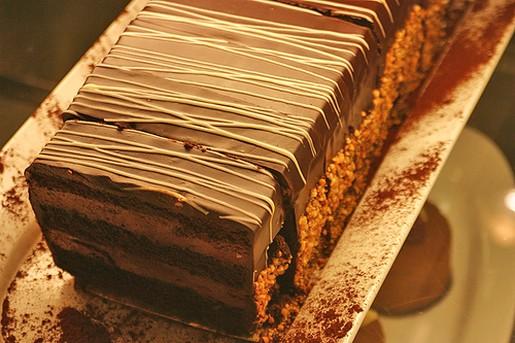 Nut And Chocolate Gateau Recipe — Dishmaps