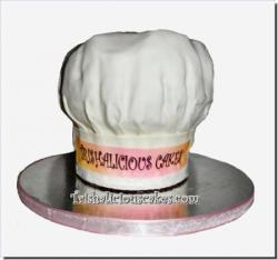 Pastry Chef Hat Birthday Cake