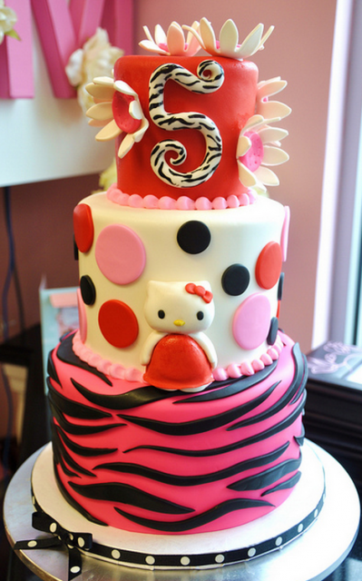 Three Tiers Hello Kitty Cakes For Kids Png 2 Comments