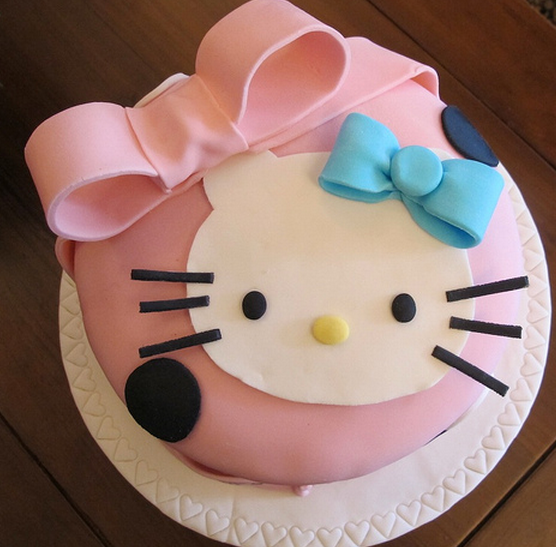 Trendy hello kitty face cake in pink.PNG