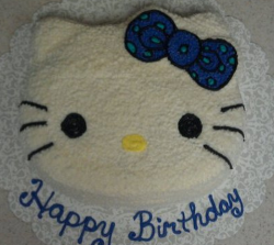 White Hello Kitty cakes in blue color for birthday cake decor.PNG
