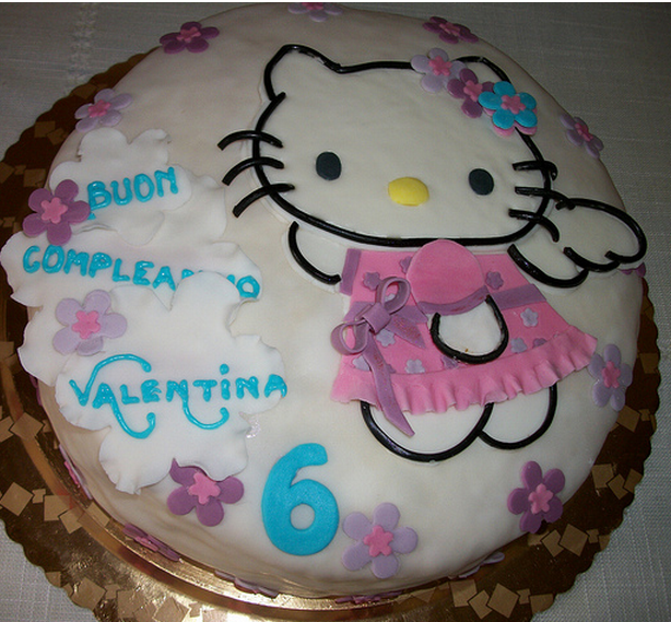 Decor Cake Hello Kitty : Angle hello kitty cake with floral cake decor.PNG